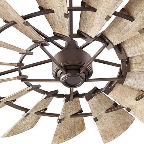 Quorum: Windmill Fan in Oiled Bronze Finish with Weathered Oak Blades